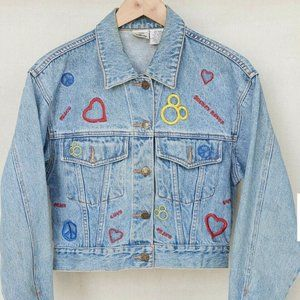 Vintage Disney Mickey Mouse Denim Embroidered Jean